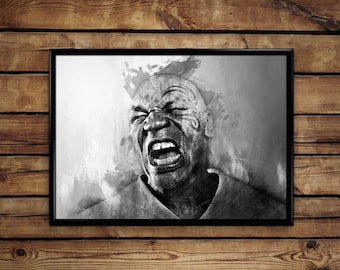 Mike Tyson poster wall art home decor poster