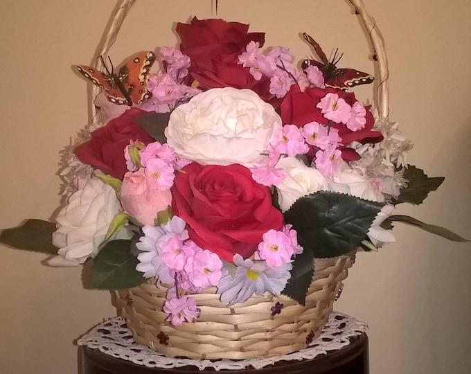 Artificial Roses in basket