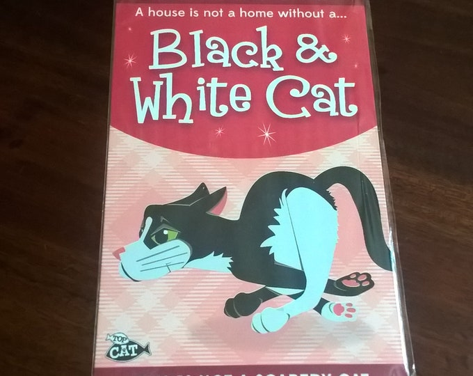 Black and white Cat sign