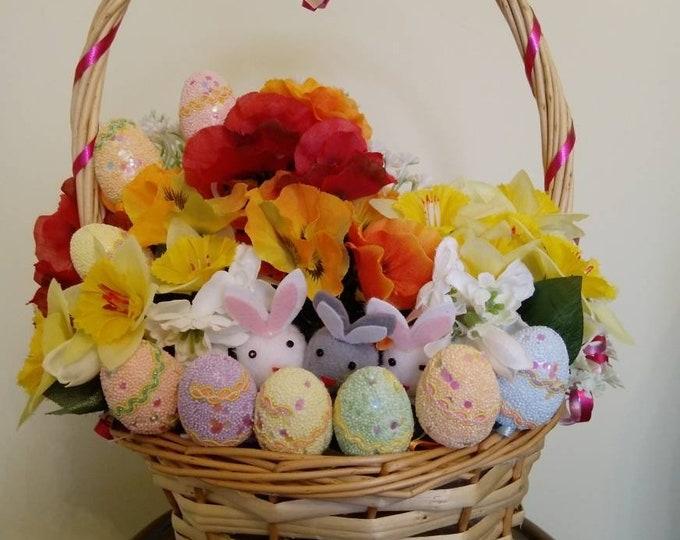 Easter Bunny Basket - Orange and Yellow