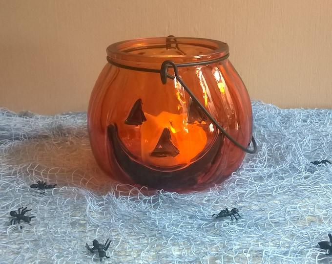 Glass Pumpkin Tea light holder