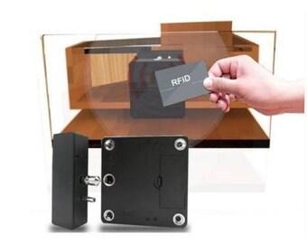 RFID Hidden Cabinet Drawer Lock, 3 Keys   Gun Safes,Stands, Cabinets 13.56  Mhz