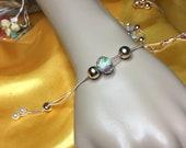 Gift - Stylish crystal flower European style pendants and rose gold findings women s bracelets in boho , bohemian and bohewear jewellery