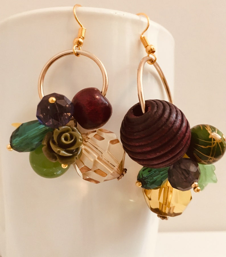 Statement earringsTrending earrings hoop earrings flower image 1
