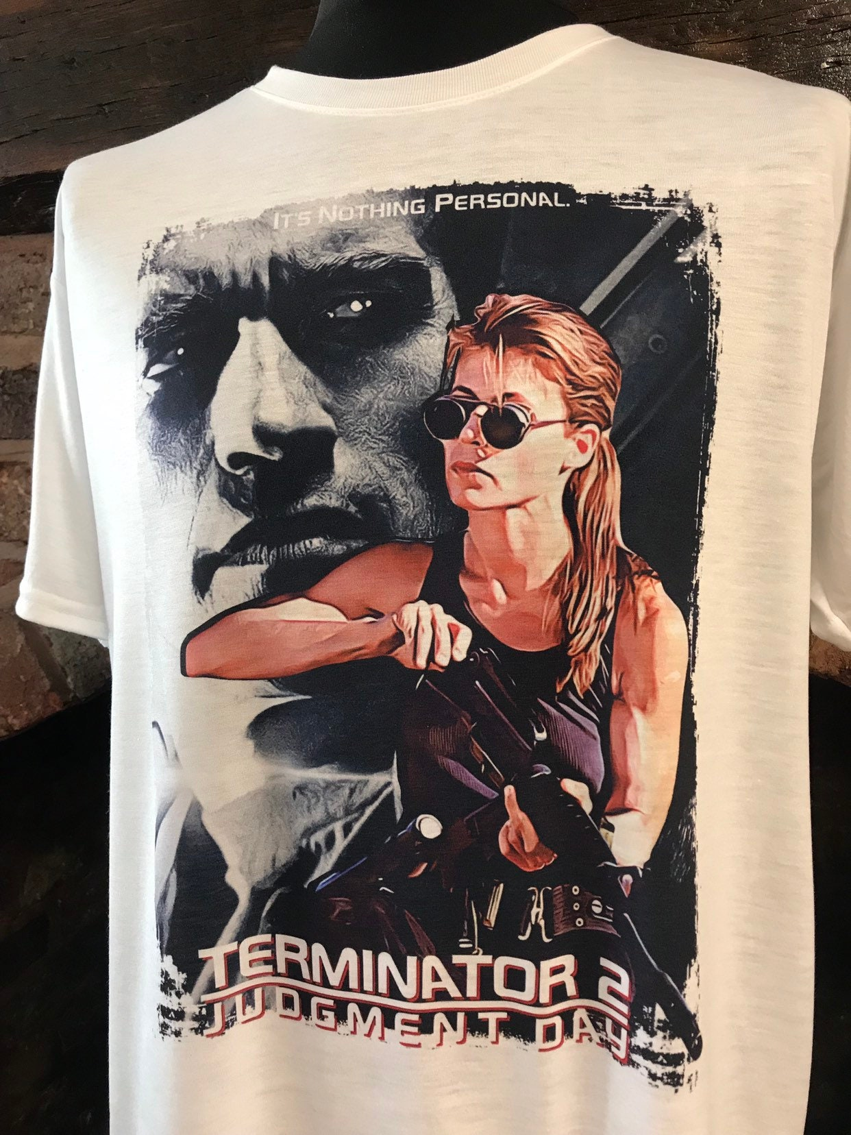 Terminator 2 Judgment Day Sarah Connor T-shirt for Adults