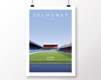 Crystal Palace Selhurst Vintage Style Football Stadium Sign Football Wall Sign