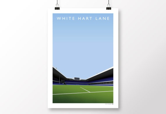 Tottenham Hotspur White Hart Lane Poster In A3 A2 Etsy
