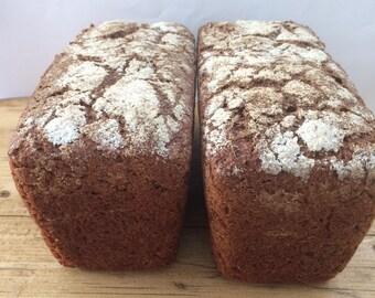 Rye bread - Borodinsky rye bread - Organic rye bread - Organic bread - Traditional Eastern European bread -Freshly baked Sourdough - Healthy