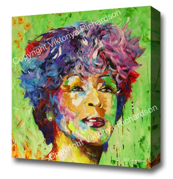 CANVAS Tina Turner Performing Art print POSTER