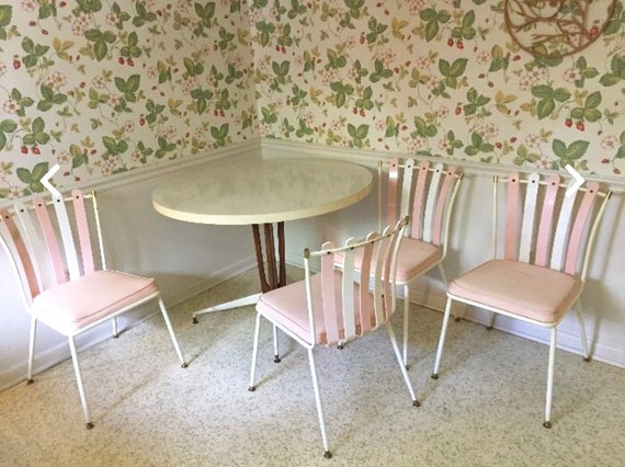 vintage daystrom retro dinette table chairs mid century modern etsy