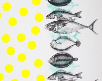 Fish & Dots fabric