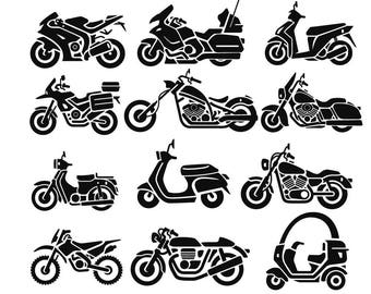 Motorcycle SVG Bundle, Motorcycle SVG, Motorcycle Clipart, Cut Files For Silhouette, Files for Cricut, Motorcycle Vector, Svg, Png, Dxf,Eps