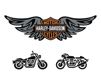 Harley Davidson svg,motorcycle svg,svg,eps,png,dxf file for cricut,silhouette…