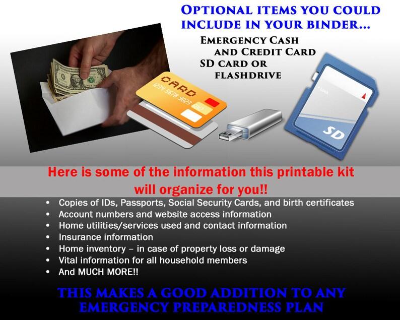 Essential Home Information Planner Kit - Bug-out Binder - Emergency Grab &  GO Vital Information Planner- PDF Instant Digital Download