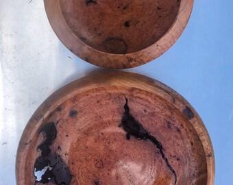 Wild Cherry Burl Nested Set of Bowls
