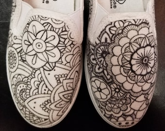 Zentangle Coloring Book Shoes