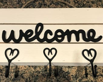 Farmhouse Style Welcome Key Hanger