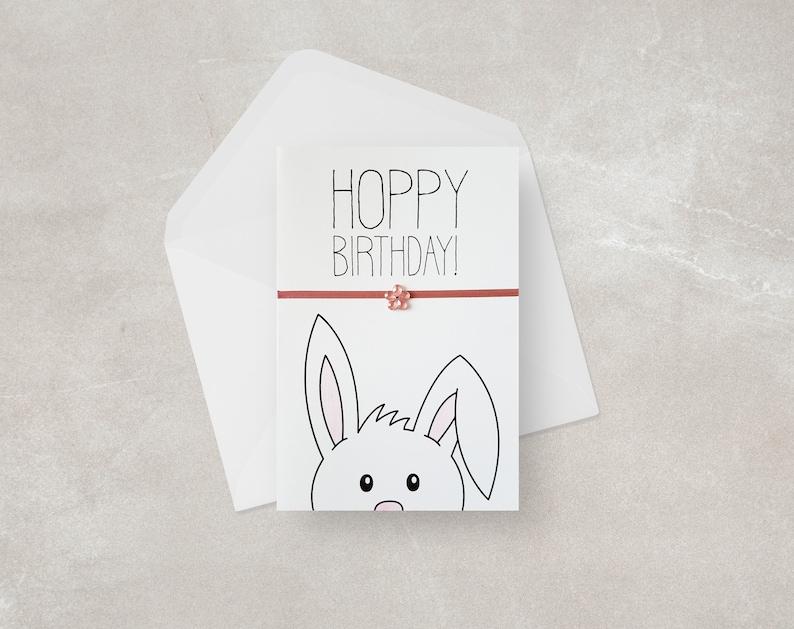 Bunny Birthday Card Funny Pun