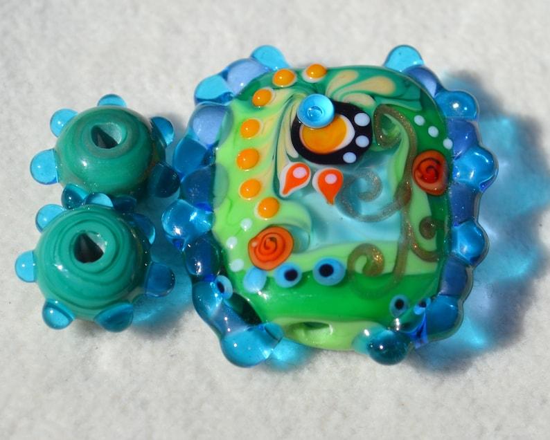 Artisan Lamp Work Beads Lot 1024