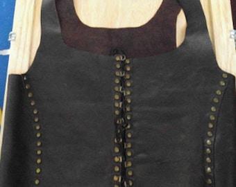Leather lace-up vest