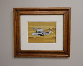 Original painting of an airplane