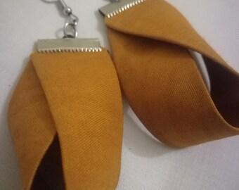 Twisted Tan Earrings
