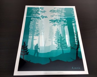 """11"""" x 14"""" Encapsulated Metal Print (Forest)"""