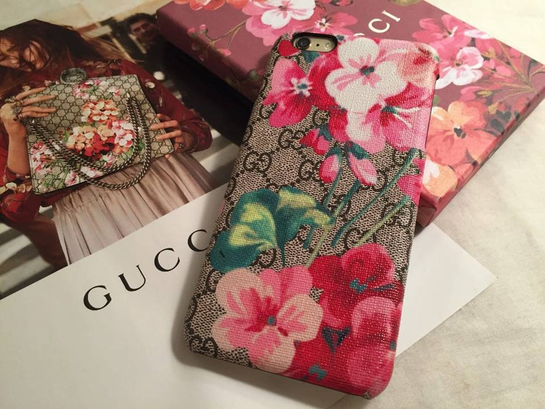 f85bb2b3b7f81 Gucci inspired bloom design case for iPhone XS, XS MAX , 8 , 8 Plus