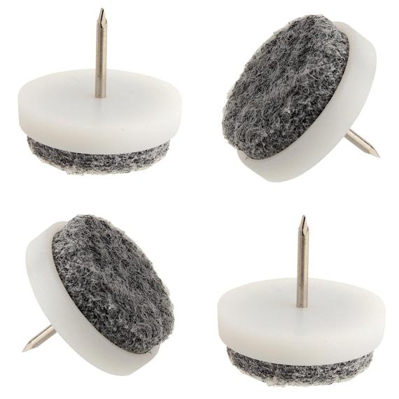 Felt Furniture Feet Pads Nail On White Grey Chair Table Sofa | Etsy