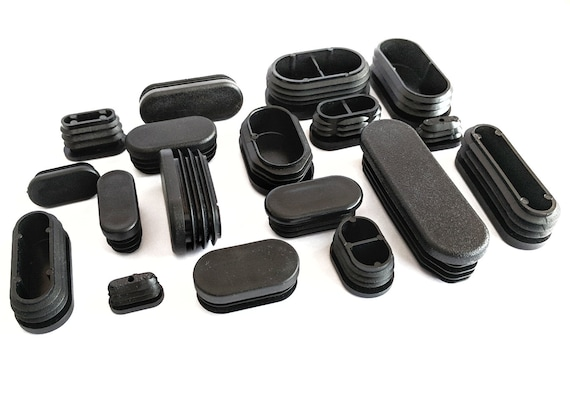 Made in Germany 40mm Round Tube Inserts Blanking End Edge Caps BLACK or WHITE