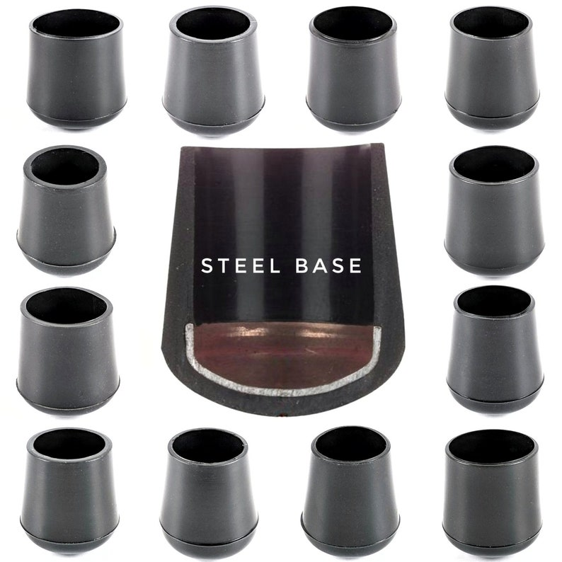 32mm Round Domed Inserts End Cap Stopper For Tubular Metal Table /& Chair Legs