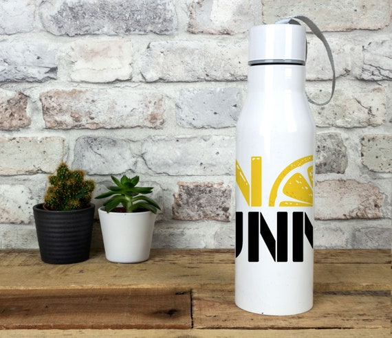 Water Bottle Gym And Tonic Stainless Steel White 6.5 x 23.5cm