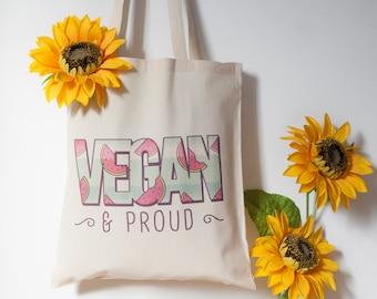 Vegan & Proud Tote Bag