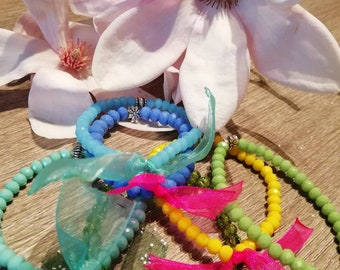 Bracelets with elastic super colored soul