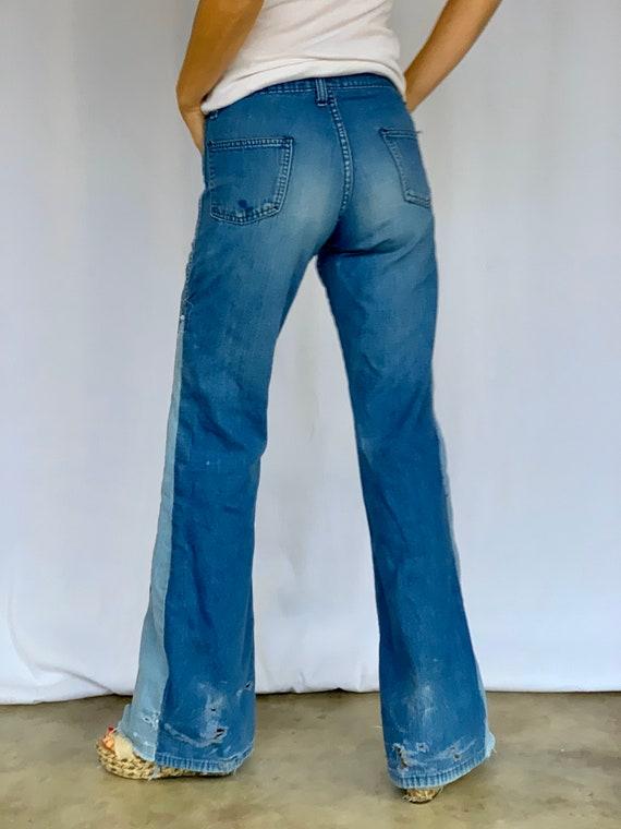 Farah 70s Bellbottoms Blue Jeans - image 10
