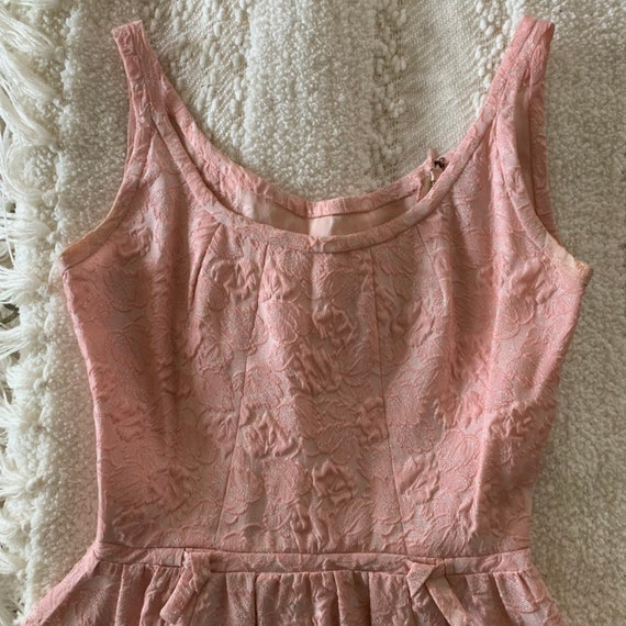 60s brocade pink dress suit - image 10