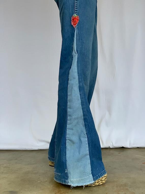 Farah 70s Bellbottoms Blue Jeans - image 3
