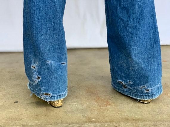 Farah 70s Bellbottoms Blue Jeans - image 9
