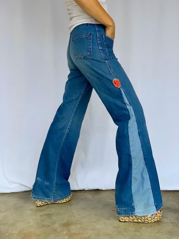 Farah 70s Bellbottoms Blue Jeans - image 5