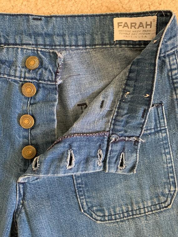 Farah 70s Bellbottoms Blue Jeans - image 8