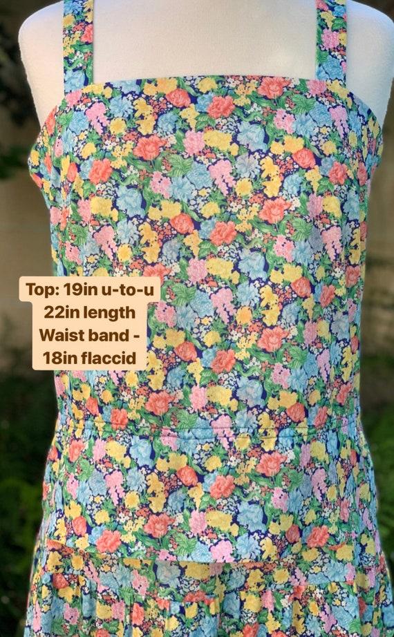 70s Floral Two Piece Set - image 3