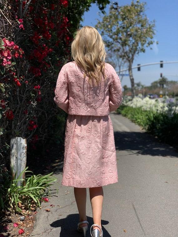 60s brocade pink dress suit - image 8