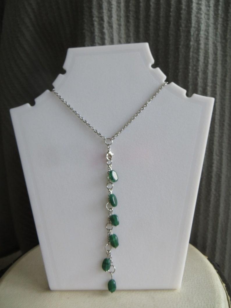 rainbow module Y-necklace