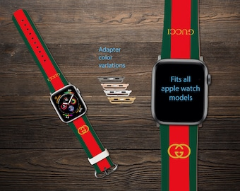 b0e4b8f1c64 Inspired by Gucci Apple Watch Series 1-4 iWatch Band Apple Watch Band Apple  Watch 38mm GG Watch band iWatch Leather Band Watch band 42