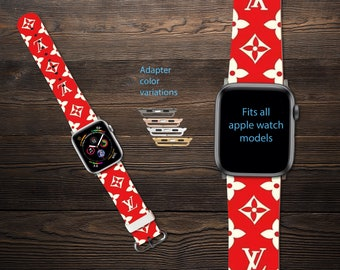 inspired by louis vuitton apple watch band series 1 4 iwatch etsy