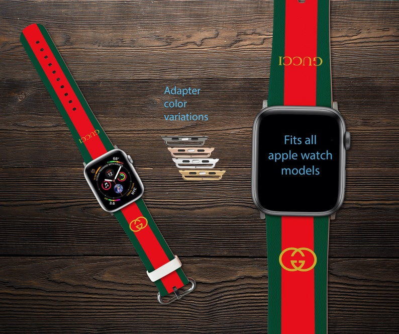 05125130ed2 Inspired by Gucci Apple Watch Series 1-4 iWatch Band Apple
