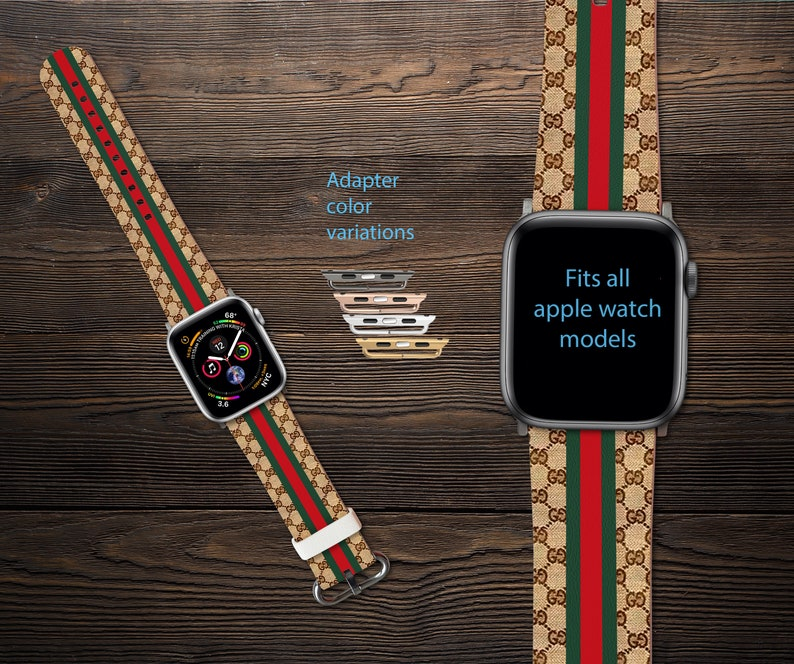 2f416985ca4 Inspired by GUCCI Apple Watch Band iWatch Band Series 1-4