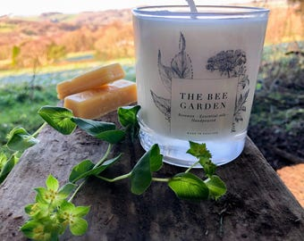 Essential Oil beeswax Candle -Peaceful thoughts