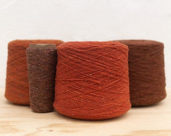 5 shades 100/% Merino wool 100g // 50g // entire cone Double Soft Donegal Tweed