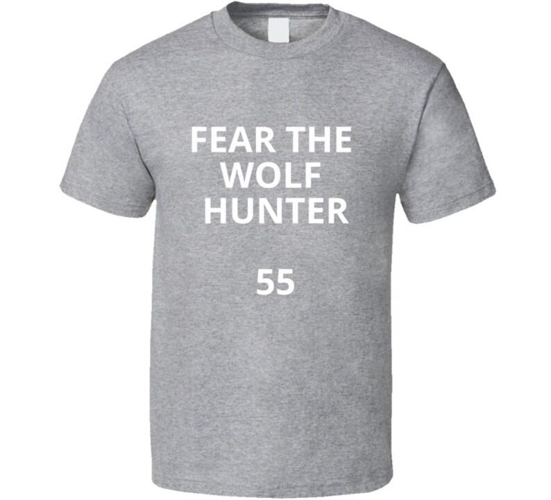separation shoes 4d6ed 5bf05 Fear The Wolf Hunter Leighton Vander Esch Cowboys Cool Football Fan T Shirt